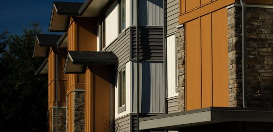 Architectural design rendering of Argyle Townhomes in Abbotsford