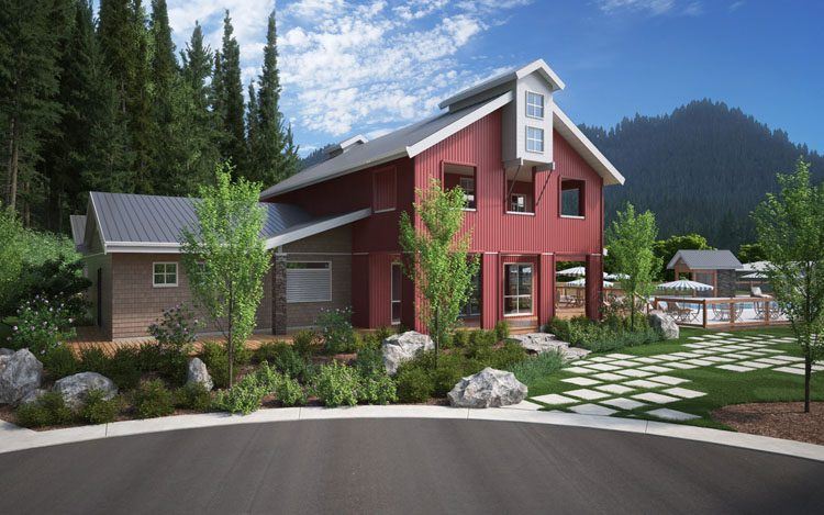 architecture for creekside ranch clubhouse in lindell beach, bc