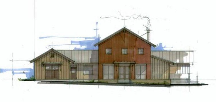 architectural drawing of creekside ranch clubhouse in lindell beach, bc
