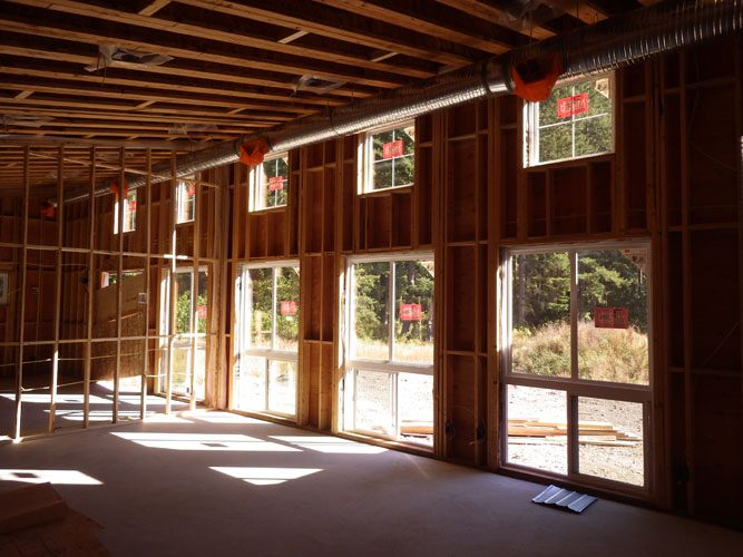 construction of the creekside ranch clubhouse in lindell beach, bc