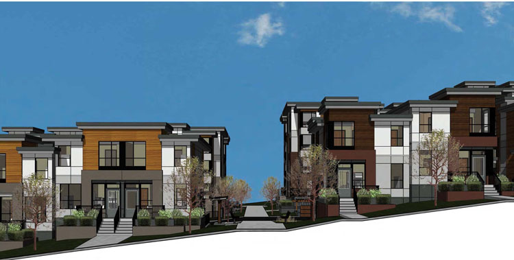 architecture for the park hill development in langley