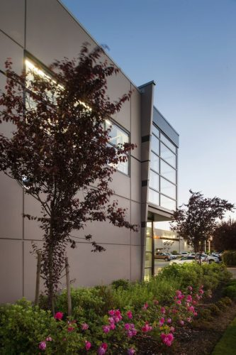 architecture design of the dynamic warehouse building addition in abbotsford, bc