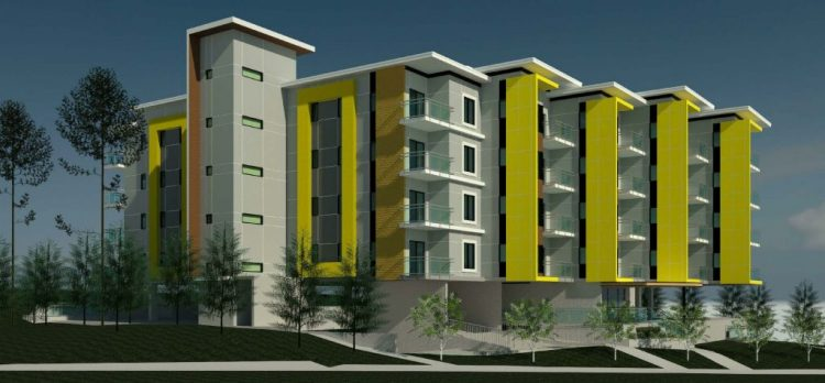 Architecture renderings of abbotsford apartments on George Ferguson Way