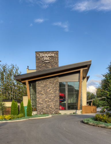 architectural design for the hampton inn in chilliwack, bc