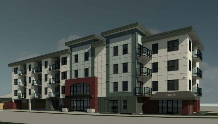 Architectural rendering in abbotsford for hillcrest apartments
