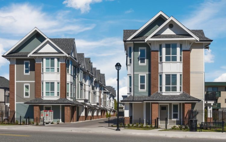 Townhome Architecture in Langley