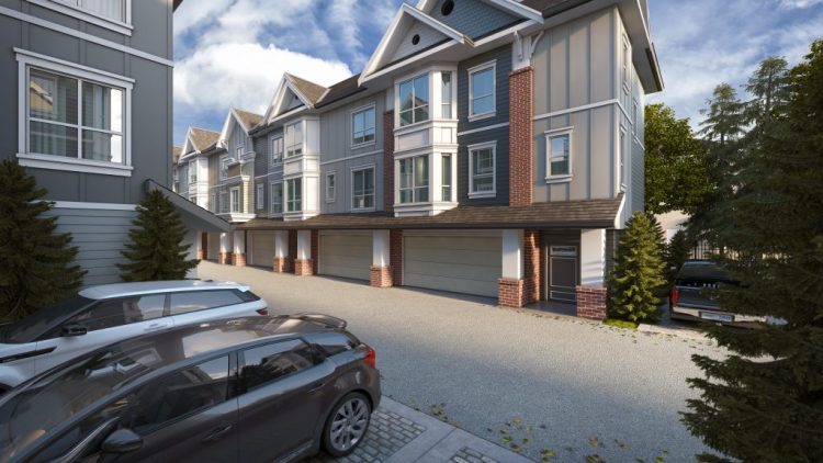 architecture design for rossbrin townhomes in langley