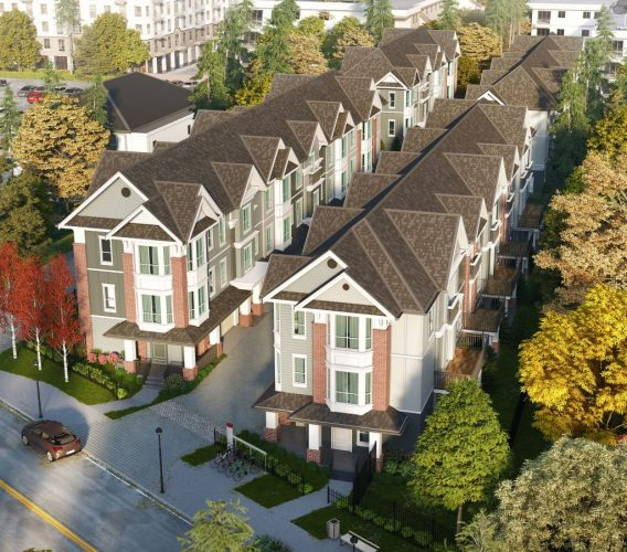 rossbrin townhomes in langley architecture