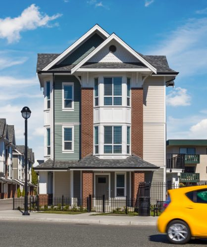 Townhouse architecture in langley