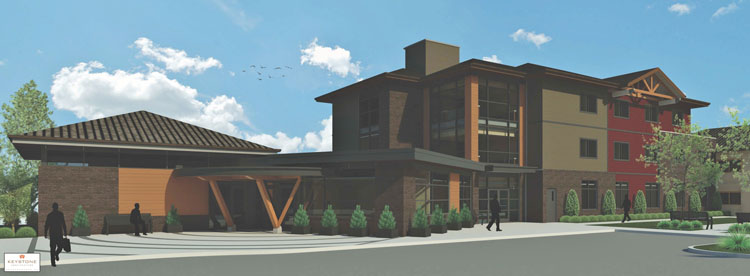 architectural design rendering of the kinghaven treatment centre in abbotsford, bc