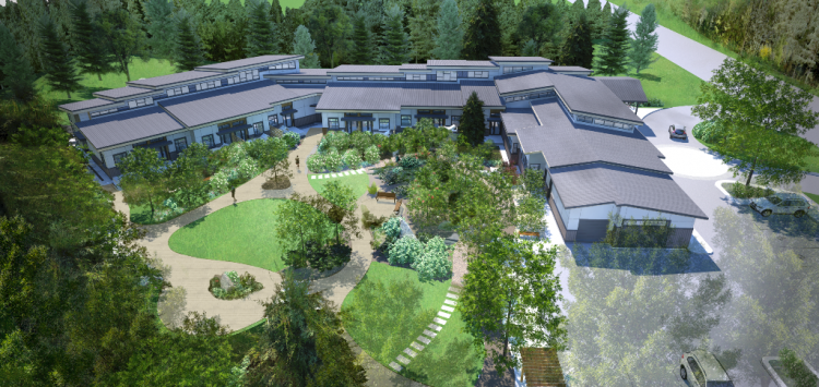 architecture rendering of langley hospice