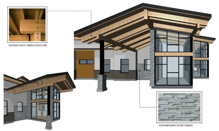 architectural design drawing of langley hospice in langley, bc