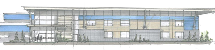 architecture drawing for maple ridge christian school redevelopment