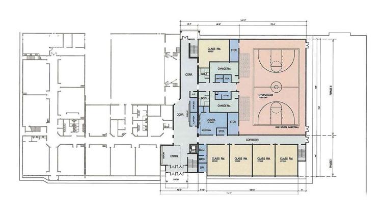 architecture design drawing for maple ridge christian school redevelopment