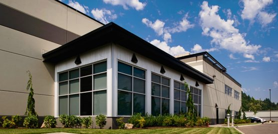 architecture design rendering for maxswi warehouse in chilliwack, bc