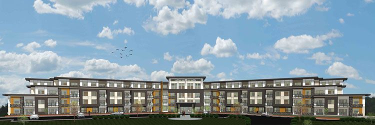 Architecture drawings of Peterson Landing Apartments in Kamloops