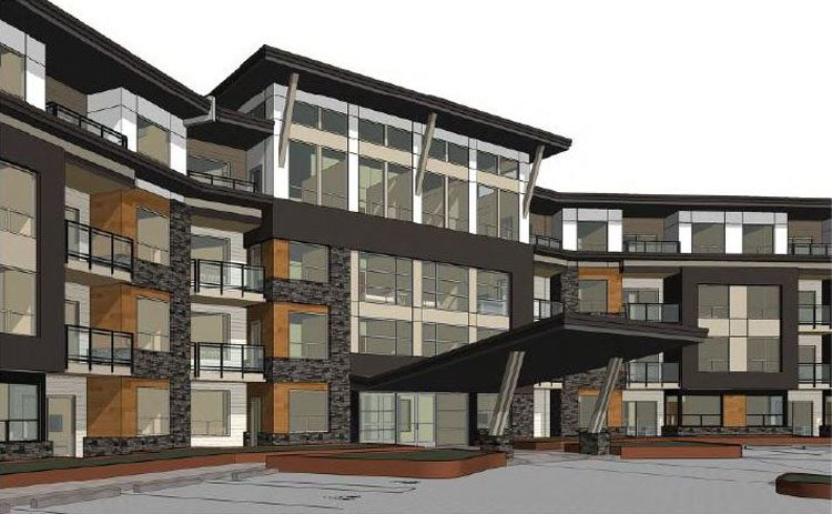 Architecture renderings of Peterson Landing Apartments in Kamloops