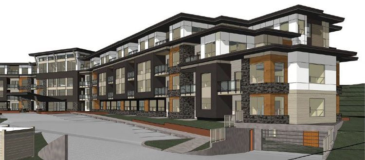 Architecture drawings of Peterson Landing Apartments in Kamloops, BC