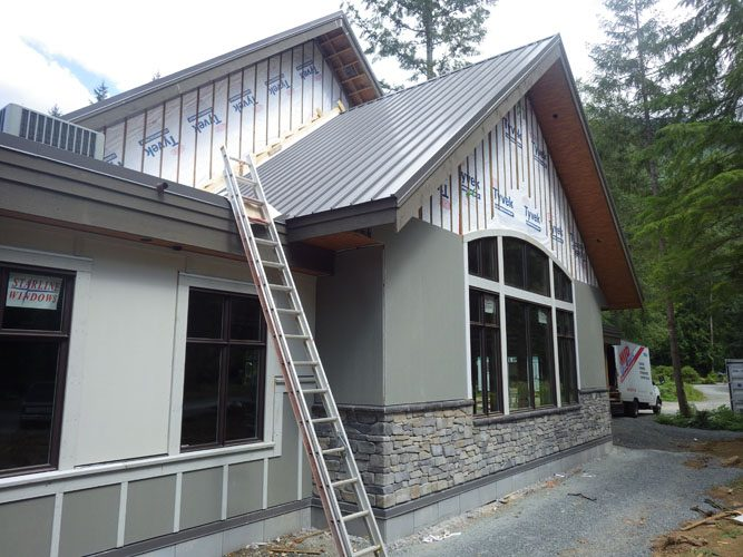 construction of the stillwood camp chapel in lindell beach, bc