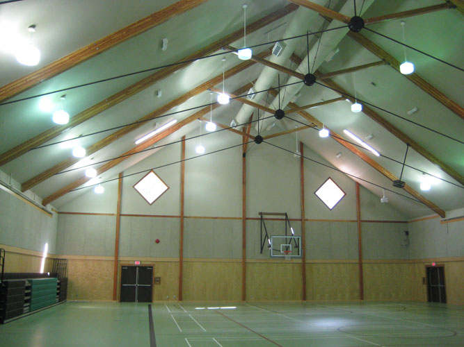 inside view of the stillwood camp gym in lindell beach, bc