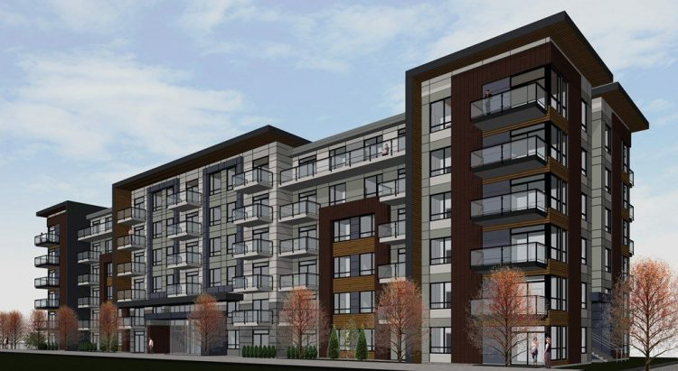 architecture renderings for the University District Development in Abbotsford