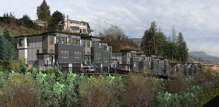 Whatcom townhouse architecture in Abbotsford