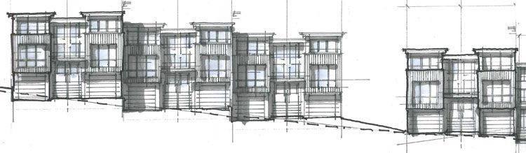 architectural drawings for vantage at whatcom townhouses in abbotsford