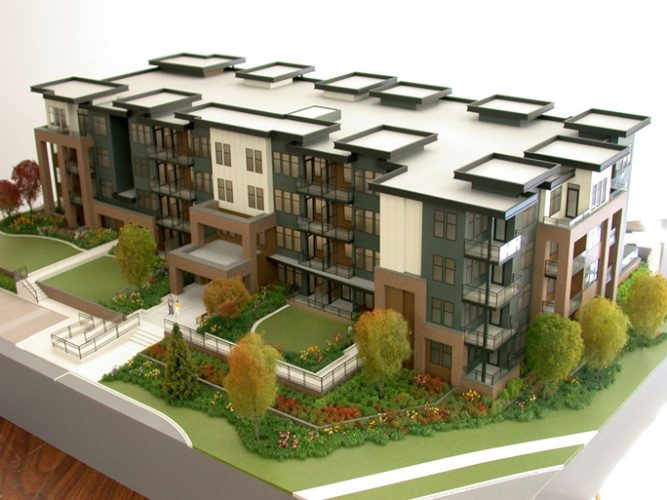 architectural rendering of Varsity Condos in Langley
