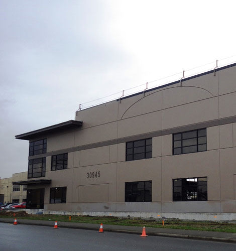 architectural design for wheel avenue warehouse in abbotsford, bc