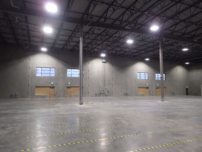 inside view of wheel avenue warehouse in abbotsford, bc