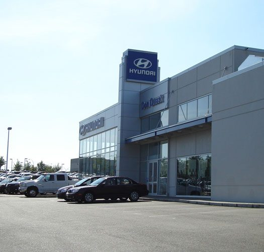 Architecture design for the Abbotsford Hyundai building