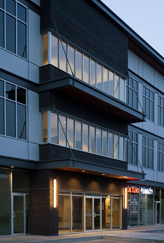 architecture design of the allwood office building in Abbotsford