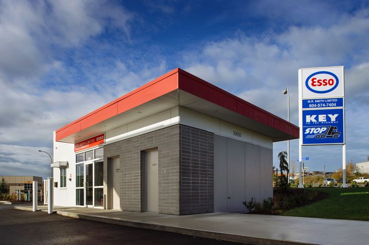 Architecture for Cardlock Esso on South Fraser Way in Abbotsford