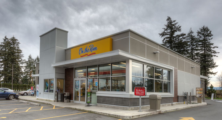 architectural design for the Esso on Clearbrook Road, Abbotsford