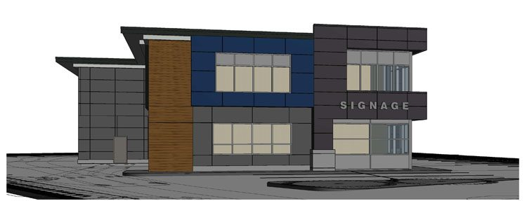 EDS Pumps building in Langley architecture design rendering