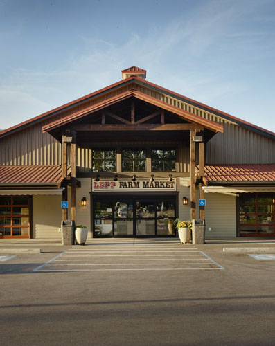 Lepp Farm Market exterior architecture