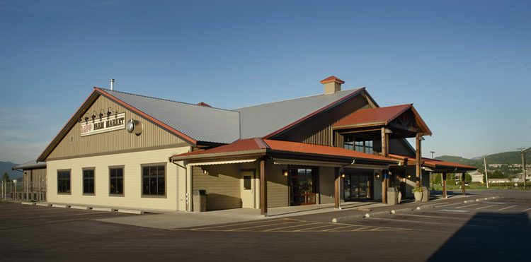 exterior architecture of Lepp Farm Market in Abbotsford