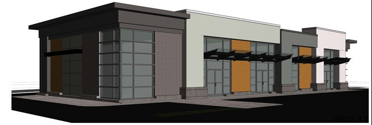 Commercial building architecture in Abbotsford