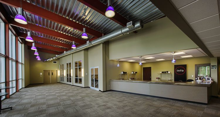 Interior architecture of the Northview Church in Abbotsford