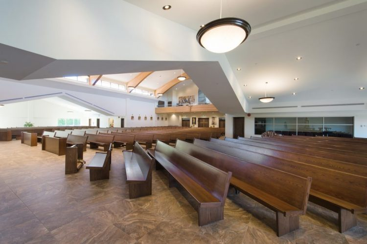 interior architecture for st. clare of assisi catholic parish