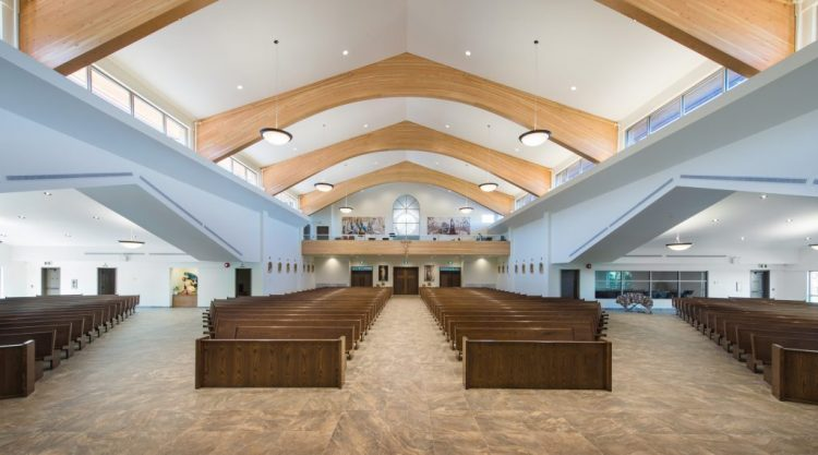 st. clare of assisi catholic parish interior architecture