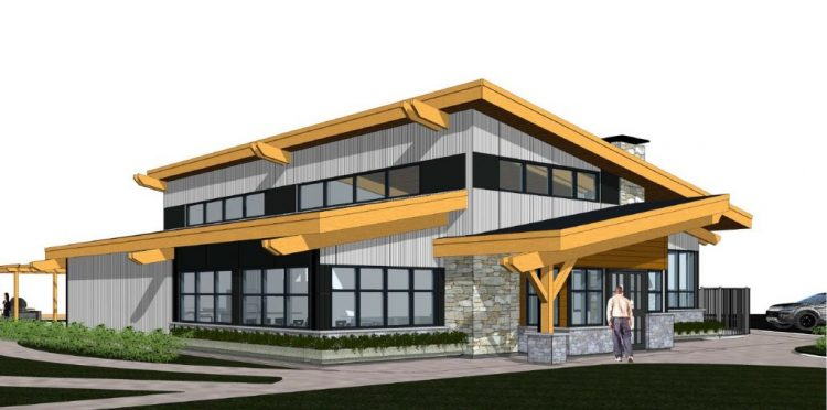 architectural design drawing for the aquadel crossing clubhouse