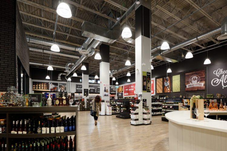 Otter Co-Op Admin & Liquor Store Interior - Keystone Architecture
