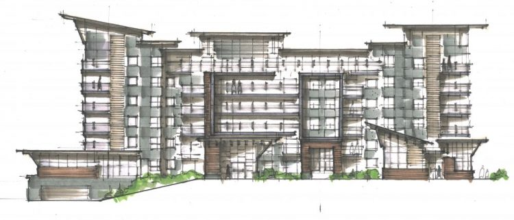 North Elevation building drawing